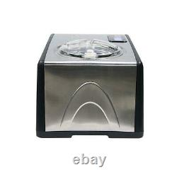 Whynter Electric Ice Cream Maker Stainless Steel Built-In Timer Removable Bowl