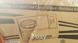 Whynter ICM-200LS Stainless Steel Ice Cream Maker 2.1 Quart Silver