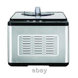 Whynter Ice Cream Maker 2.1 Qt. Electric Stainless Steel Motor With Recipe Scoop