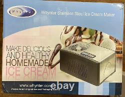 Whynter Ice Cream Maker 2.1 Quart, Silver, Brand New