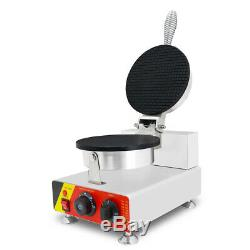 YTR Commercial Electric Ice Cream Waffle Cone Maker Egg Roll Bowl Machine 110V