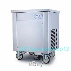 Yogurt Real Fruits Fried Ice Cream Roll Machine/Thailand Ice Cream Machine 110V